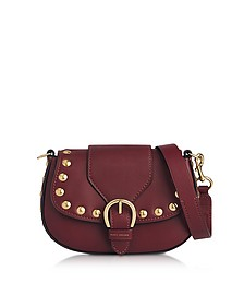Cabernet Leather Small Studded Navigator Shoulder Bag - Marc Jacobs