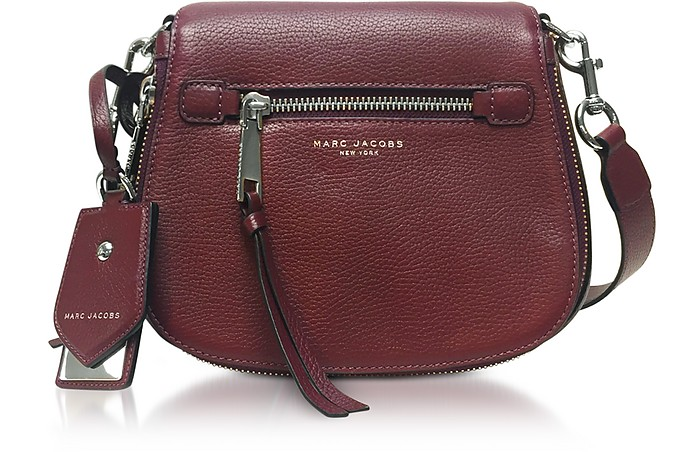 a10d452588355 Marc Jacobs Recruit Blackberry Leather Small Saddle Bag at FORZIERI