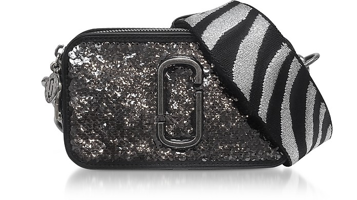 Marc Jacobs Gunmetal Sequin Snapshot Camera Bag at FORZIERI b43d6dbdbcaea