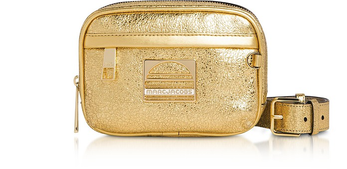 Gold Leather Sport Belt Bag - Marc Jacobs