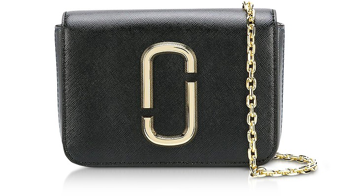The Logo Strap Hip Shot Black Multi Saffiano Leather Belt bag - Marc Jacobs