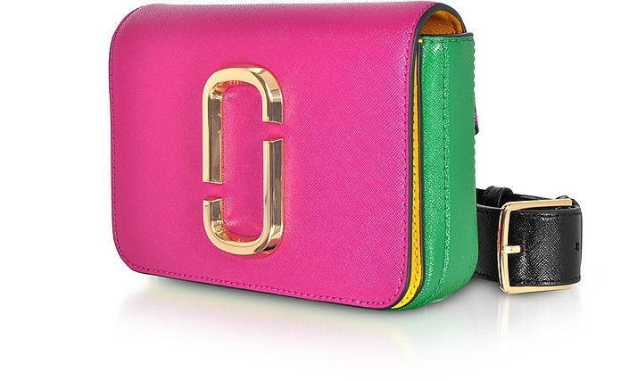 8c64aab4e6bf Marc Jacobs Magenta Hip Shot Saffiano Leather Belt bag at FORZIERI