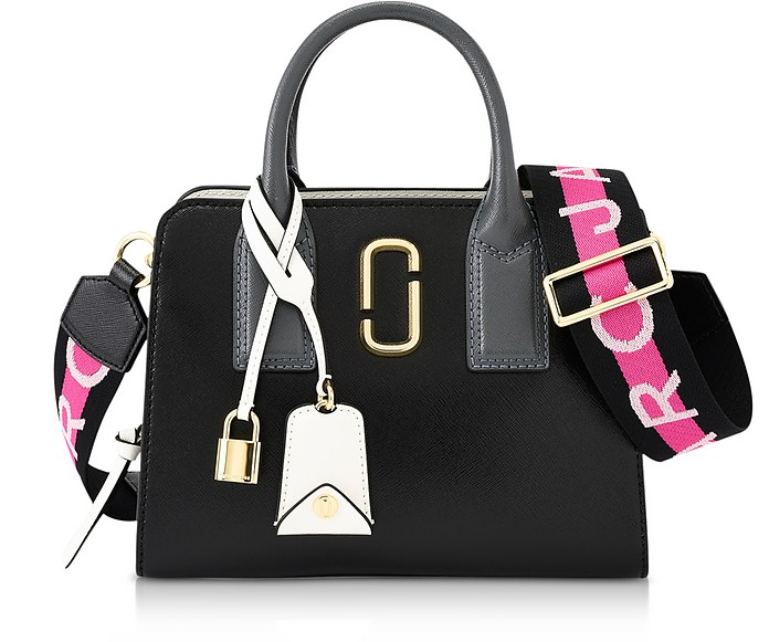 Black Logo Strap Little Big Shot Tote Bag - Marc Jacobs