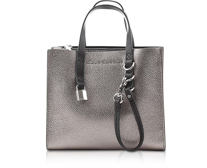 The Grind Mini Metallic Leather Tote Bag - Marc Jacobs