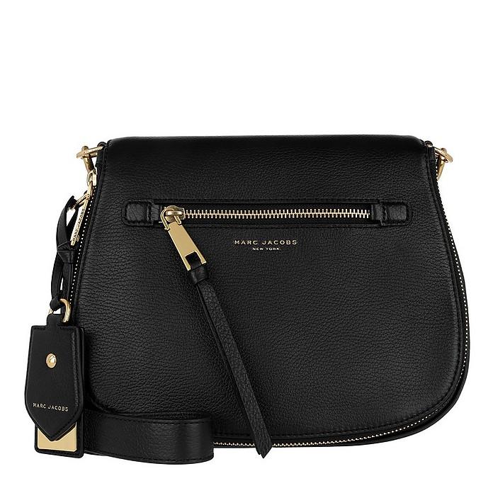 609d65ce5a Marc Jacobs Recruit Saddle Bag Leather Black at FORZIERI