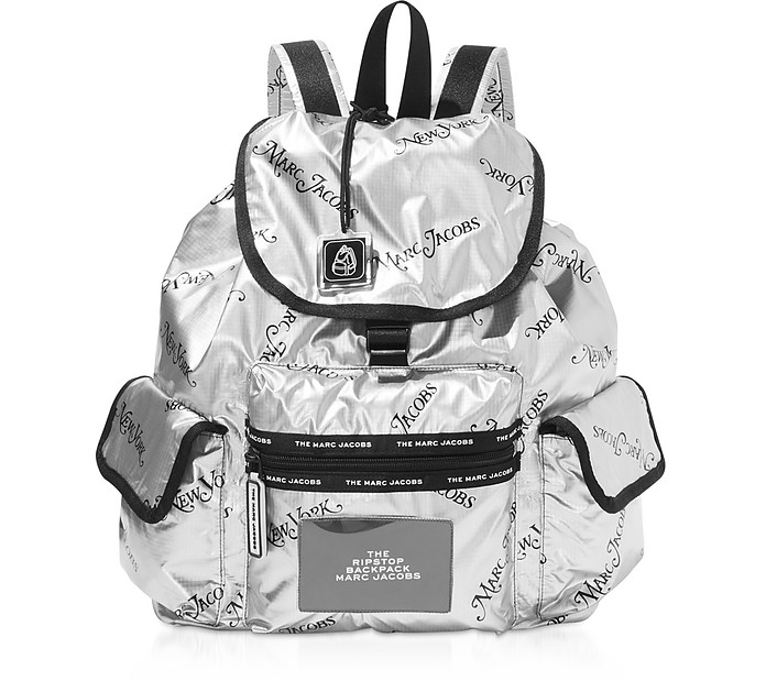 The Ripstop NY Mag Silver Nylon Backpack - Marc Jacobs