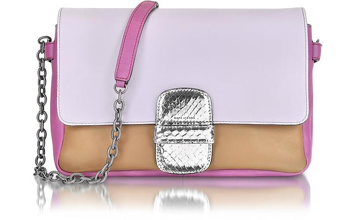 Violet Leather Shoulder Bag - Marc Jacobs