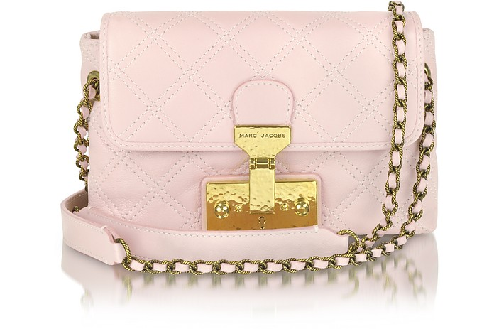 The Single Light Pink Leather Shoulder Bag - Marc Jacobs