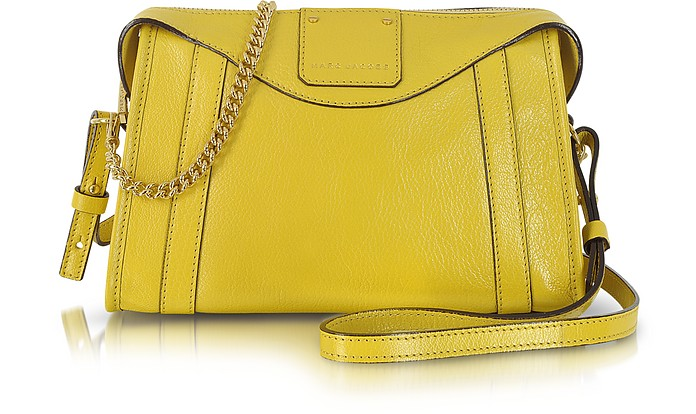 Peggy Straw Leather Shoulder Bag - Marc Jacobs