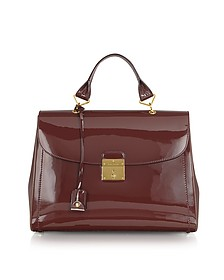 The 1984 Chestnut Patent Leather Satchel