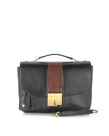Mini Polly Chestnut and Black Shoulder Bag