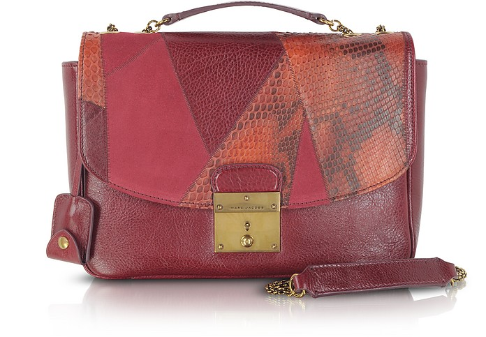 Mini Polly Mixed-Media Shoulder Bag - Marc Jacobs