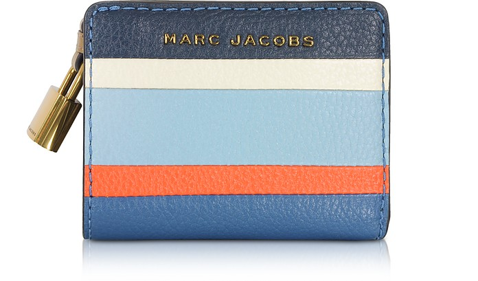 The Grind Colorblocked Leather Mini Compact Wallet - Marc Jacobs