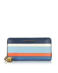 The Grind Colorblocked Leather Continental Wallet - Marc Jacobs