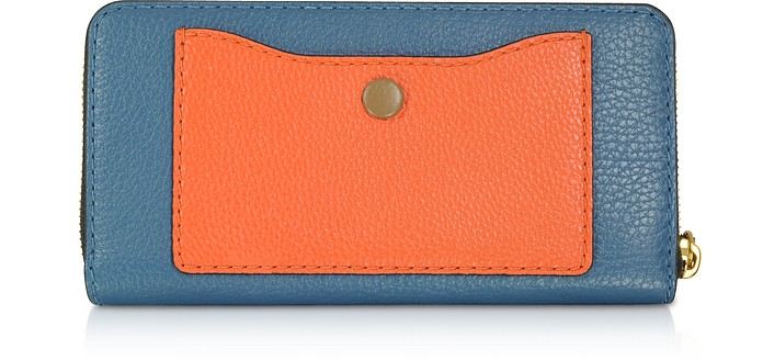 The Grind Continental Portafoglio in Pelle Colorblock Marc Jacobs Blu yGWbSMGpmS