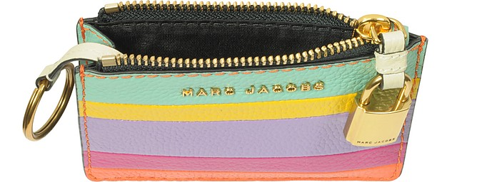 The Grind Porta Carte di Credito in Pelle Colorblock Marc Jacobs dp0cmDyTAE