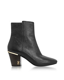 Aria Status Booties in Pelle Nera Grainy - Marc Jacobs