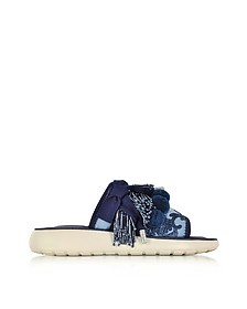 Emerson Pompom Denim Sport Sandal - Marc Jacobs