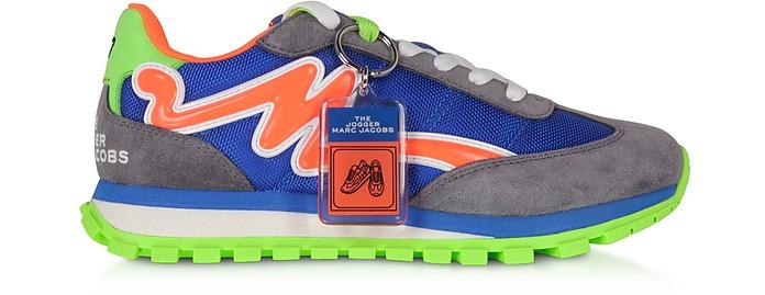 The Jogger Sneakers en Nylon Bleu et Daim - Marc Jacobs