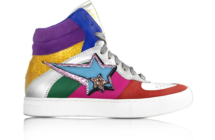 Rainbow Leather Eclipse High Top Sneakers - Marc Jacobs