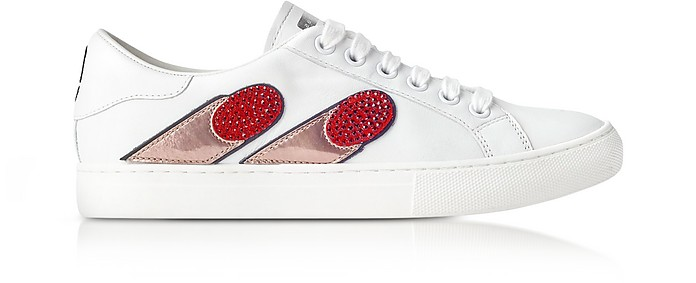 White Empire Finger Low Top Sneaker - Marc Jacobs