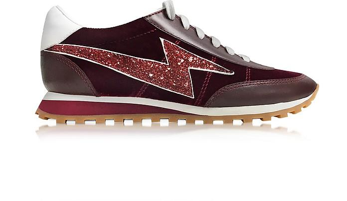 Astor Bordeaux Sneaker w/Lightning Bolt Logo - Marc Jacobs