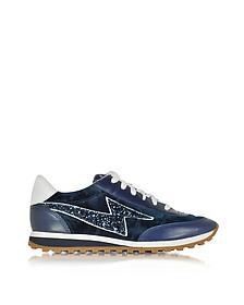 Astor Navy Blue Sneaker w/Lightning Bolt Logo - Marc Jacobs