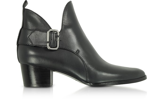 Black Leather Ginger Interlock Ankle Boots - Marc Jacobs
