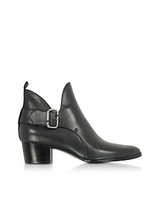 Ginger Interlock - Bottines à Talons Mi-hauts en Cuir Noir - Marc Jacobs