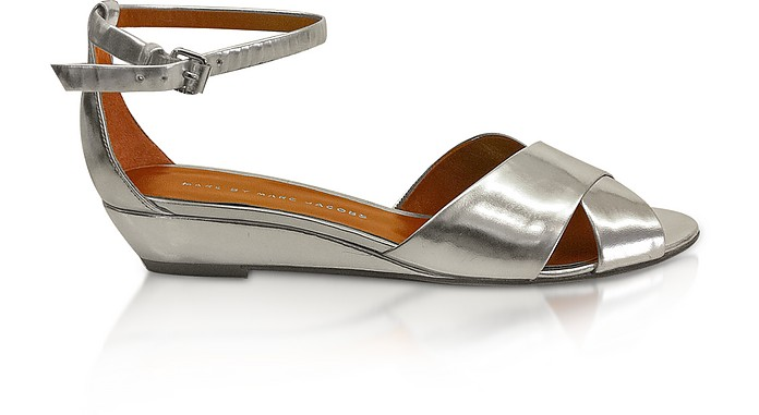 Peaces - Silver Leather Sandals  - Marc by Marc Jacobs