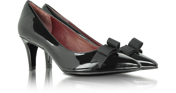 Andromeda - Black Patent Leather Bow Pump - Marc by Marc Jacobs
