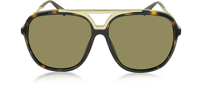b377a7f481cb Marc Jacobs Gold Havana Brown MJ 618 S Acetate Men s Sunglasses at ...