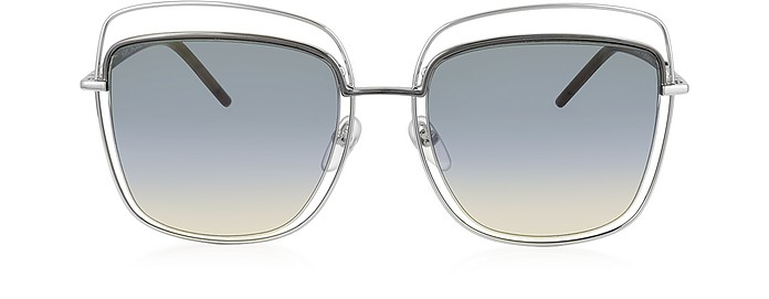MARC 9/S TYYB0 Silver Metal Square Oversized Women's Sunglasses - Marc Jacobs