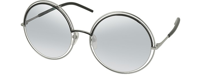 cf78bc5dc9 More Offers ×. MARC 11 S Metal   Acetate Round Oversized Women s Sunglasses  - Marc Jacobs