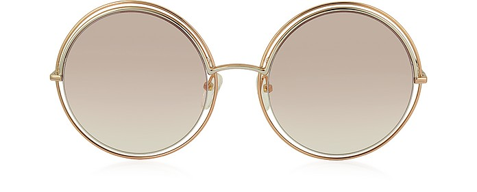 MARC 11/S Metal & Acetate Round Oversized Women's Sunglasses - Marc Jacobs