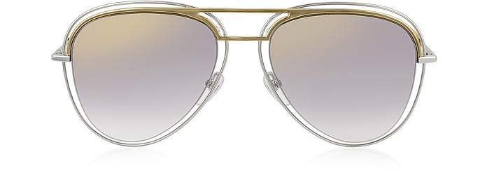 d521ef97791e Marc Jacobs Gold and Silver/Black Shaded Mirror MARC 7/S Metal ...