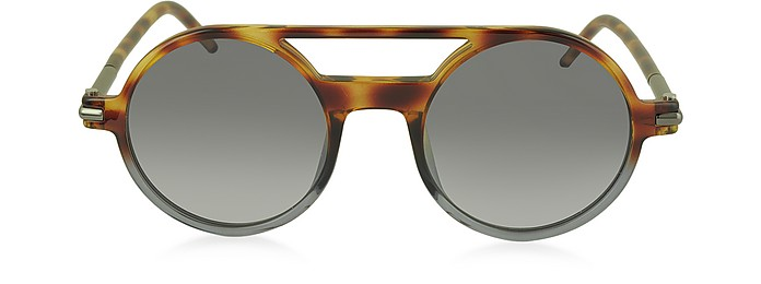 96f56e5322 Marc Jacobs Havana  Shaded Black MARC 45 S Acetate Round Aviator ...