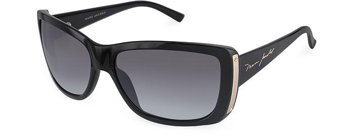Sonnenbrille mit rechteckigen Gläsern und Kunststoffrahmen - Marc Jacobs