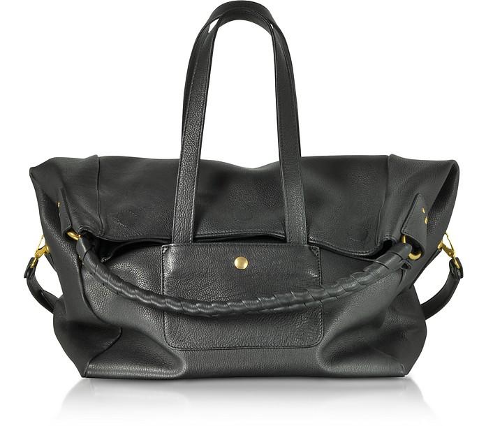 Gas Black Leather Shoulder Bag - Jerome Dreyfuss