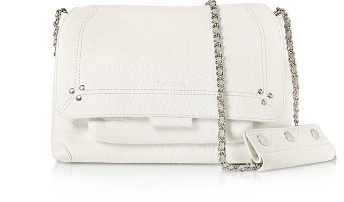 Lulu M White Leather Shoulder Bag - Jerome Dreyfuss