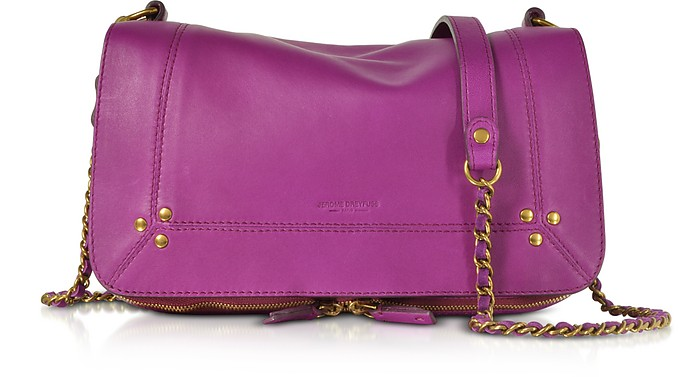 Bobi Bouganville Leather Shoulder Bag  - Jerome Dreyfuss