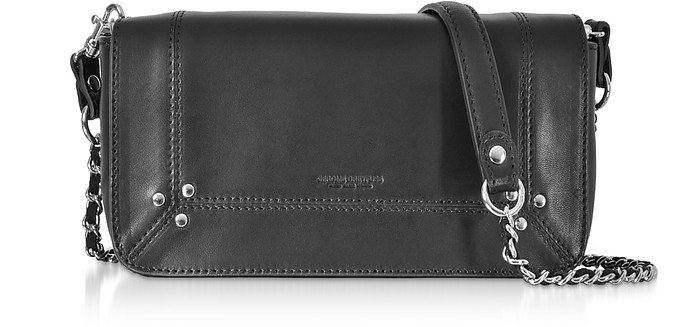 Bob Black Leather Shoulder Bag - Jerome Dreyfuss
