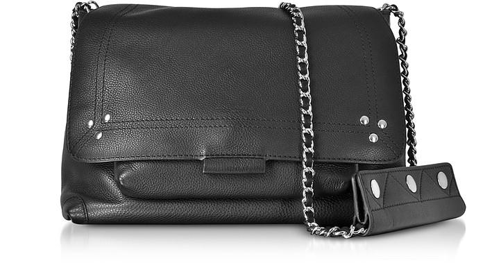 Lulu Black Leather Shoulder Bag - Jerome Dreyfuss