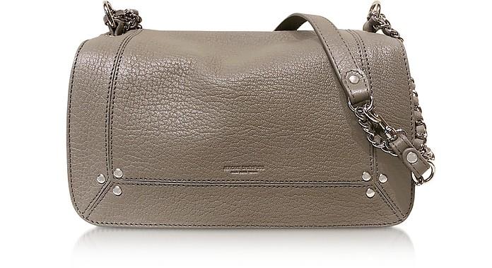 Bobi Grey Leather Shoulder Bag - Jerome Dreyfuss