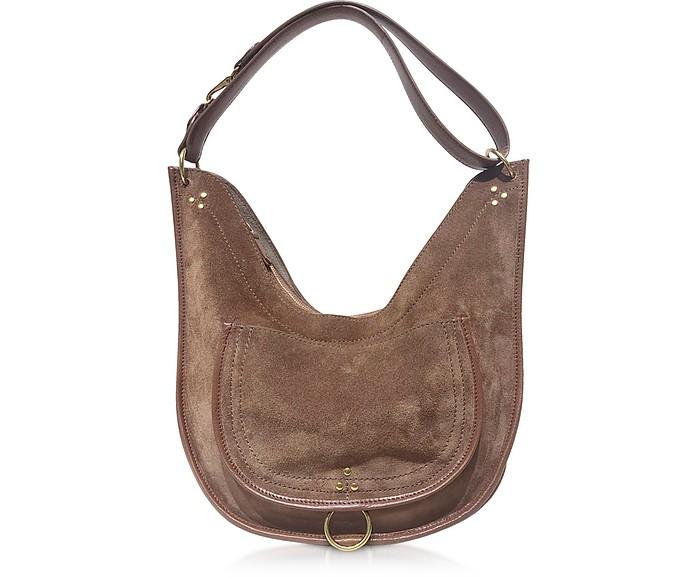 Edgar Large Leather Shoulder Bag - Jerome Dreyfuss