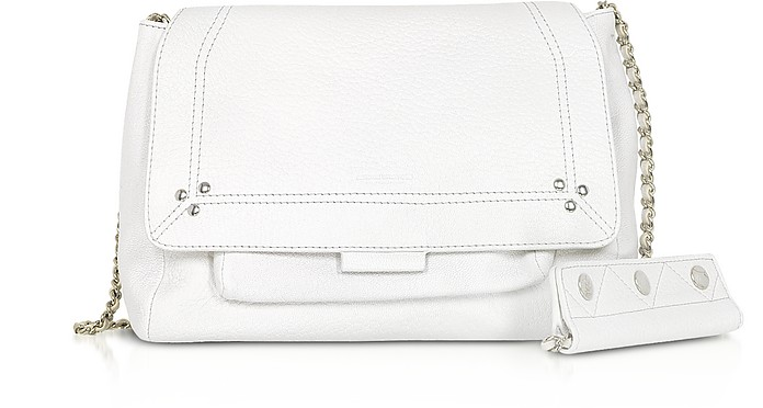 Lulu M White Leather Shoulder Bag - Jerome Dreyfuss