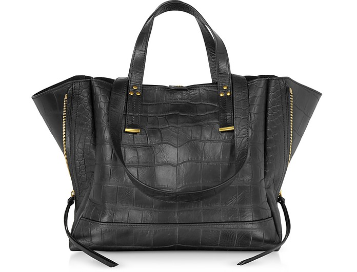 Georges M Croco Embossed Leather Tote Bag - Jerome Dreyfuss