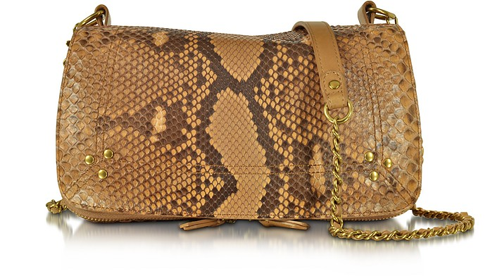 Bobi Golden Python Leather Shoulder Bag - Jerome Dreyfuss