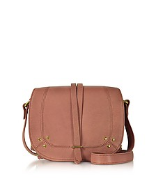 Victor Rose Leather Crossbody Bag w/Golden Rings - Jerome Dreyfuss