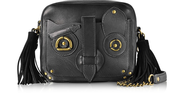 Black Leather Pascal Shoulder Bag - Jerome Dreyfuss